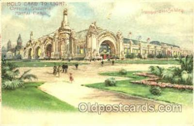htl005002 - Transportation Building Hold to Light Postcard Postcards