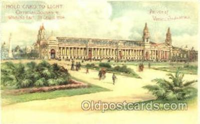 htl005013 - Palace of Varied Industries Hold to Light Postcard Postcards