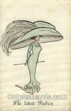 hat001141 - The Alpha - series 146 Hat Pins, Hats, Postcard Postcards