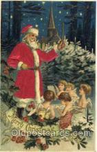 hol000035 - Silk Santa Claus Postcard Postcards