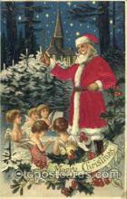 hol000037 - Silk Santa Claus Postcard Postcards