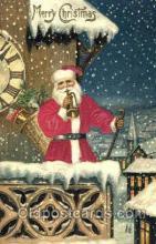 hol000038 - Silk Santa Claus Postcard Postcards