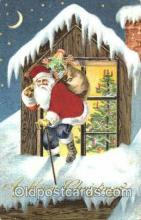 hol000039 - Silk Santa Claus Postcard Postcards