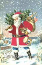 hol000040 - Silk Santa Claus Postcard Postcards