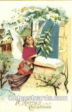 hol000048 - Silk Angel Christmas Postcard Postcards