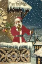 hol000050 - Silk Santa Christmas Postcard Postcards