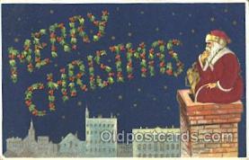 hol000051 - Silk Santa Claus Postcard Postcards