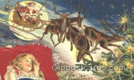 hol000052 - Silk Santa Claus Postcard Postcards