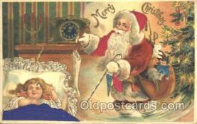 hol000063 - Silk Santa Claus Postcard Postcards