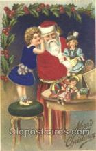 hol000065 - Silk Santa Claus Postcard Postcards