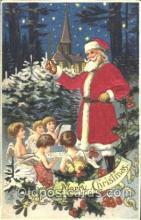 hol000068 - Silk Santa Claus Postcard Postcards