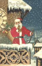 hol000069 - Silk Santa Claus Postcard Postcards