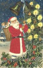 hol000071 - Silk Santa Claus Postcard Postcards