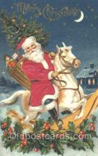 hol000072 - Silk Santa Claus Postcard Postcards