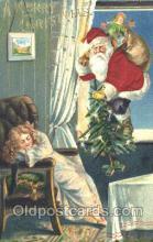 hol000074 - Silk Santa Claus Postcard Postcards