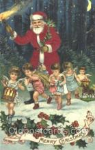 hol000075 - Silk Santa Claus Postcard Postcards