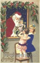 hol000077 - Silk Santa Claus Postcard Postcards