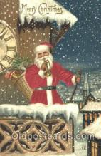 hol000079 - Silk Santa Claus Postcard Postcards
