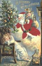 hol000081 - Silk Santa Claus Postcard Postcards