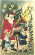 hol000082 - Silk Santa Claus Postcard Postcards