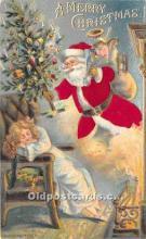 hol000103 - Santa Claus Postcard Old Vintage Christmas Post Card