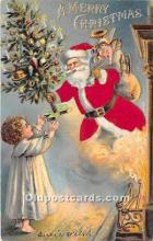 hol000104 - Santa Claus Postcard Old Vintage Christmas Post Card