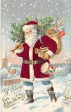 hol000109 - Santa Claus Postcard Old Vintage Christmas Post Card
