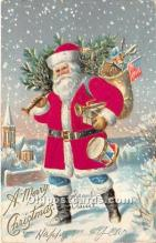 hol000110 - Santa Claus Postcard Old Vintage Christmas Post Card