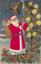 hol000112 - Santa Claus Postcard Old Vintage Christmas Post Card
