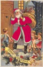 hol000114 - Santa Claus Postcard Old Vintage Christmas Post Card