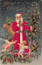hol000115 - Santa Claus Postcard Old Vintage Christmas Post Card