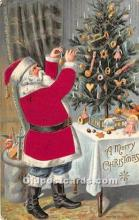 hol000117 - Santa Claus Postcard Old Vintage Christmas Post Card