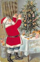 hol000118 - Santa Claus Postcard Old Vintage Christmas Post Card