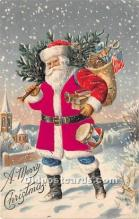 hol000119 - Santa Claus Postcard Old Vintage Christmas Post Card