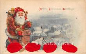 hol000121 - Santa Claus Postcard Old Vintage Christmas Post Card