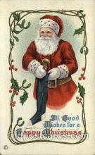 hol000236 - Santa Claus Christmas Postcard Post Cards