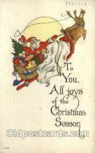 hol000260 - Santa Claus Christmas Postcards Post Card