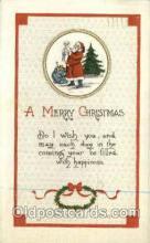 hol000261 - Publisher Winsch Santa Claus Christmas Postcards Post Card