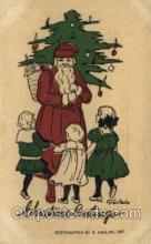 hol000295 - Artist Grace Harlos Santa Claus Christmas Postcards Post Card