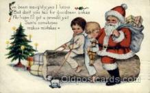 hol000332 - Publisher Whitney Santa Claus Postcard Post Cards