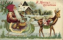 hol000335 - Silk Hat Santa Claus Postcard Post Cards
