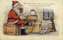 hol000343 - Publisher Whitney Santa Claus Postcard Post Cards