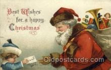 hol000360 - Ellen Clapsaddle, Santa Claus Postcards Post Card