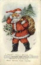 hol000403 - Publisher Whitney Santa Claus Postcards Post Card