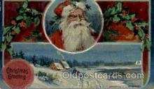 hol000487 - Santa Claus Postcards Post Card