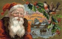 hol000488 - Santa Claus Postcards Post Card