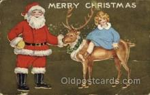 hol000504 - Whitney Publishing Santa Claus Postcards Post Card