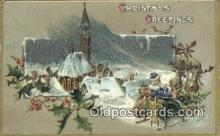 hol000593 - Blue Suit Santa Claus Old Vintage Antique Postcard Post Card