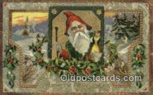 hol000594 - Santa Claus Old Vintage Antique Postcard Post Card