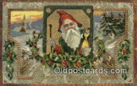 hol000594 - Santa Claus Old Vintage Antique Postcard Post Card